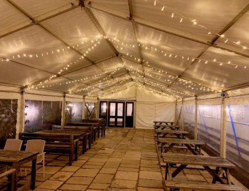 Winter Marquee On The Terrace
